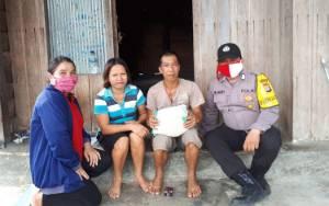 Polsek Dusun Tengah Terus Bagikan Sembako Peringati Hari Pancasila