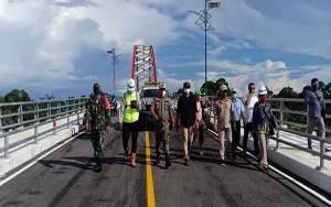 Ini Harapan Bupati Katingan Saat Jembatan Tumbang Samba Diuji Coba Operasional