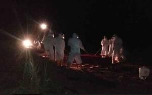 Pemakaman PDP Covid-19 di Lamandau Libatkan 9 Personel TNI APD Lengkap