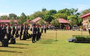 Ratusan Personel Polda Kalteng Bantu Pengamanan PSBB di Kapuas