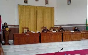 Wakil Bupati Gunung Mas Sampaikan Jawaban Atas Pandangan Umum Fraksi