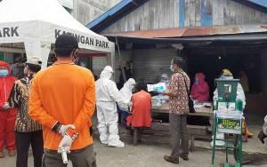 Bupati Katingan Pantau Pelaksanaan Rapid Test di Kereng Pangi