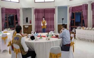 Tim Gugus Tugas Covid-19 Sukamara Adakan Pertemuan Bersama LO Gusus Tugas PP Covid-19 Kalteng