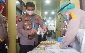 500 lebih Personel Polda Kalteng Tes Urin Mendadak