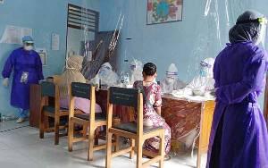 Gugus Tugas Gelar Rapid Test Massal di Pasar Tamiang Layang