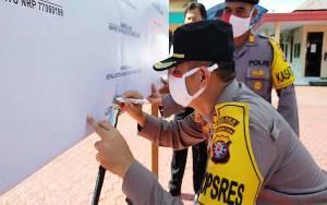 Jajaran Polres Barito Utara Tandatangani Pakta Integritas Anti Narkoba
