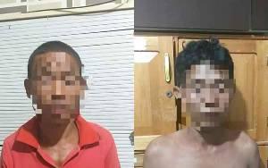 Polisi Amankan Dua Pencuri Karet di Handel Badandan Pulau Petak