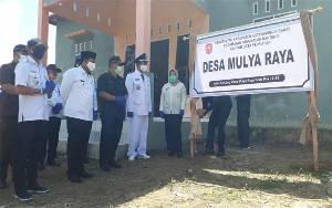 Bupati Kobar Resmikan 2 Desa Persiapan di Kecamatan Pangkalan Banteng