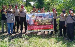 Polsek Bukit Batu Lakukan Deteksi Dini Guna Mencegah Karhutla