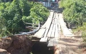 Kepala Desa Masukih Minta Pemkab Segera Tangani Jembatan Rusak