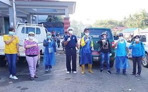 Gugus Tugas Lakukan Penyemprotan Disinfektan di Pasar Tamiang Layang