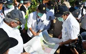 Menteri PUPR Tinjau Lokasi Lumbung Pangan Kalteng