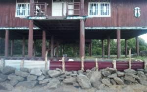 Rumah Betang di Pantai Ujung Pandaran Terkena Abrasi akan Dibongkar