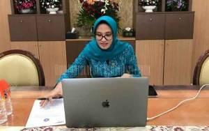 Ketua TP PKK Gelar Halal Bi Halal Virtual Bersama TP PKK, Dekranasda dan Dharma Wanita Persatuan se-Kalteng