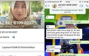 Nama dan Foto Lurah Mentawa Baru Hilir Dicatut Untuk Menipu Pinjam Uang Melalui Akun Palsu Whatsapp
