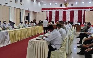 Pemkab Sukamara Rapat Evaluasi Penanganan Covid-19