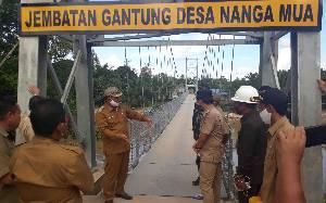 Pembangunan 4 Jembatan Gantung di Kecamatan Arut Utara untuk Entaskan Ketertinggalan
