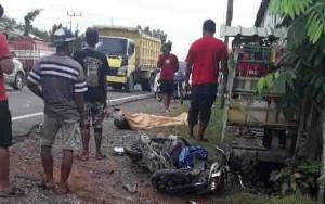 Kecelakaan Maut Motor dengan Truk Tangki, Pengendara Tewas