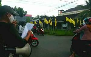 Satpol PP dan Damkar Kapuas Sosialisasi Perpanjangan PSBB Tingkat Kecamatan