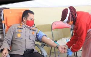 Polres Kotim Gelar Kegiatan Donor Darah Peringati HUT Bhayangkara ke 74