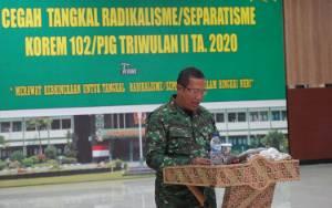 Korem 102 Panju Panjung Gelar Pembinaan Komunikasi Sosial Cegah Radikalisme