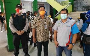 Plh Sekda Seruyan Pantau Pelaksanaan Rapid Test di Pasar Kuala Pembuang