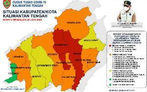 Tiga Wilayah di Kalimantan Tengah Berisiko Tinggi Penyebaran Covid-19