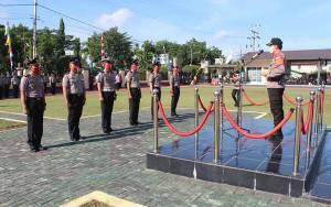 40 Personel Polres Kapuas Naik Pangkat