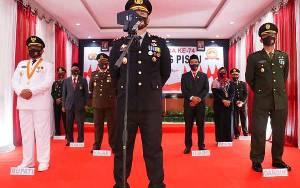 Presiden Jokowi Berdialog dengan Kapolres Pulang Pisau di Peringatan HUT Bhayangkara