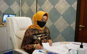 Wakil Wali Kota Palangka Raya Ikuti Rakor Bersama KPK Secara Virtual