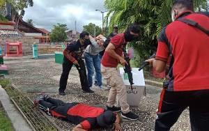 Polres Barito Selatan Mulai Latihan Simulasi Pengamanan Pilkada Kalteng