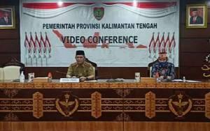 Sekda Kalimantan Tengah Ikuti Rapat Koordinasi dengan Pemda Pemenang Lomba Inovasi Daerah New Normal