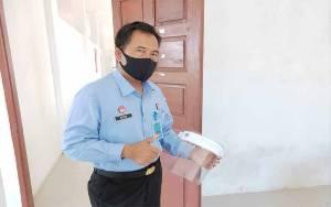Lapas Sukamara Berikan Pelatihan Cara Buat Pelindung Wajah Kepada WBP