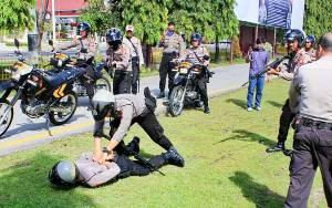 Ditsamapta Polda Kalteng Gelar Latihan Pengamanan Kedatangan Presiden