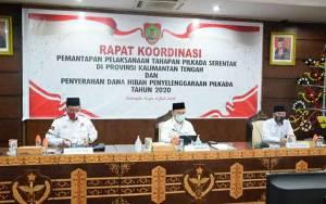 Gubernur Kalteng Pimpin Rakor Penetapan Pilkada Serentak Tahun 2020