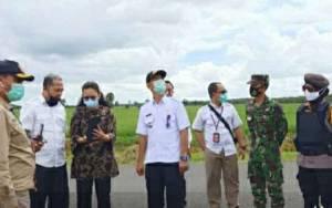 Tim Kementerian ATR/BPN Tinjau Lokasi Food Estate di Kapuas
