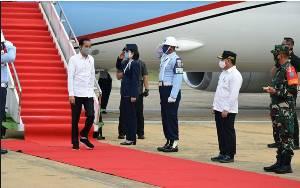 Gubernur Kalteng Sambut Kedatangan Presiden Jokowi di Bandara Tjilik Riwut