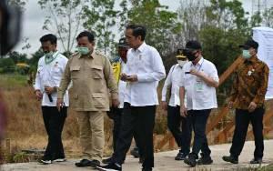 Menteri Pertahanan Dampingi Jokowi Kunjungan Kerja ke Kalteng