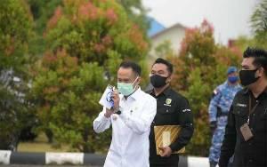 Wali Kota Palangka Raya Hadir Saat Penjemputan Presiden di Bandara Tjilik Riwut