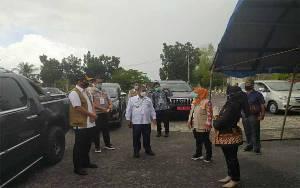 Kepala BNPB Tinjau Posko Utama Gugus Tugas Covid-19 Kota Palangka Raya