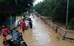 Air Sungai Bulik Meluap, Desa Nanga Koring Kebanjiran