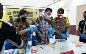 Hadiri Pemusnahan Sabu di Polres Barito Utara, Wakil Bupati Sampaikan Apresiasi