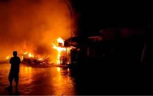 Kebakaran di Kawasan Plaza Beringin Buntok Hanguskan 24 Bangunan Kios