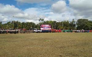 Pemko Palangka Raya Gelar Apel Gabungan Gelar Pasukan dan Peralatan Penangggulangan Karhutla