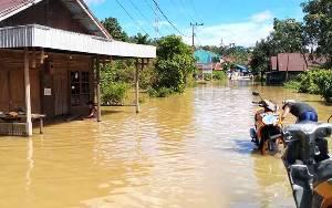 Banjir Dalam Kota Kuala Kurun Meningkat Drastis