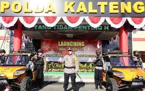 Polda Kalteng Luncurkan 6 Unit Kendaraan Patroli Pemburu Api