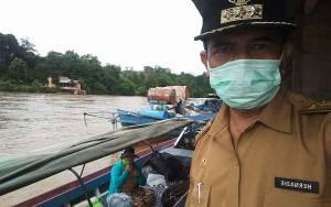 Banjir di Tumbang Sanamang dan Tumbang Samba Berangsur Surut