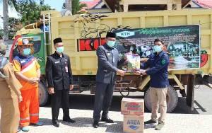 Bupati Lamandau Apresiasi PT Korintiga Hutani Bantu Ratusan Paket Sembako untuk Korban Banjir