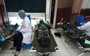 Kodim Palangka Raya dan Korem 102 Panju Panjung Donor Darah Peringati HUT ke 62 Kodam XII Tanjungpura