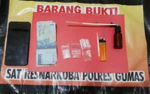 Lagi, Satuan Reserse Narkoba Polres Gunung Mas Tangkap Seorang Laki-laki karena Sabu